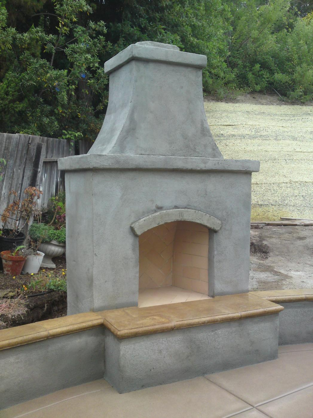 Another Outdoor Fireplace - Masonry Picture Post ... on Outdoor Fireplace With Cinder Blocks id=94594