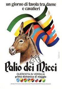Manifesto Ufficiale del Palio dei Micci di Querceta (Lucca)