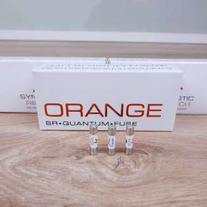 Synergistic Research Orange audio Quantum Fuse 5x20mm Slo-blow 10A 250V (3 available) 2