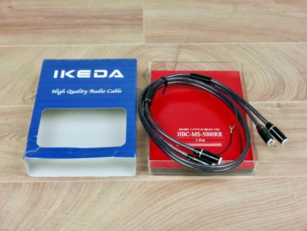 Ikeda HBC-MS-5000RR phono audio tonearm interconnect 1,0 NEW 1