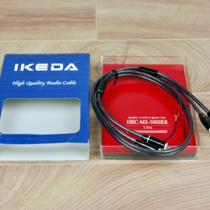 Ikeda HBC-MS-5000RR phono audio tonearm interconnect 1,0 NEW 1