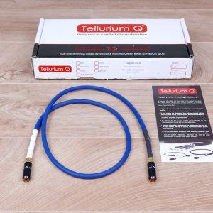 Tellurium Q Blue Waveform digital audio interconnect RCA 1,0 metre 1