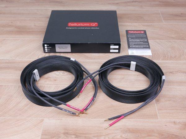 Tellurium Q Ultra Black II audio speaker cables 2,5 metre 1