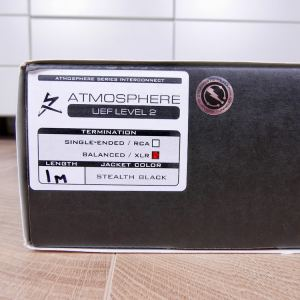 Synergistic Research Atmosphere UEF Level 2 audio interconnects XLR 1,0 metre 14