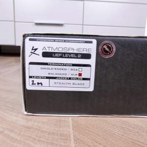 Synergistic Research Atmosphere UEF Level 2 audio interconnects XLR 2,0 metre 5
