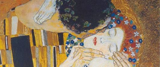 """""""El beso"""" (Close up). Cuadro del pintor austriaco Gustav Klimt (1862-1917)"""