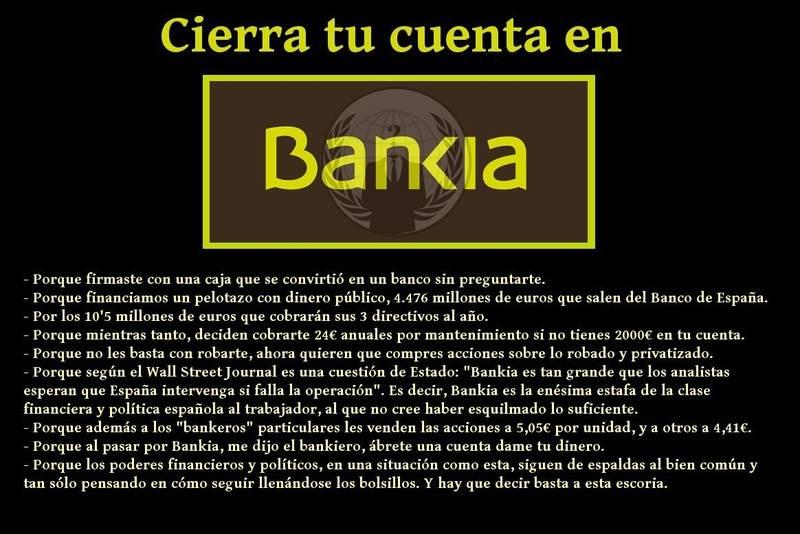 """""""Cierra tu cuenta en Bankia !"""""""