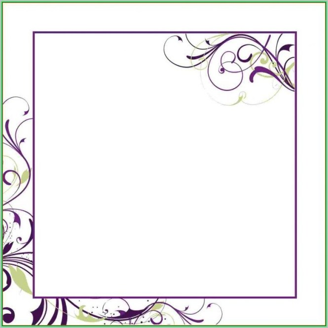 Free Printable Blank Wedding Invitation