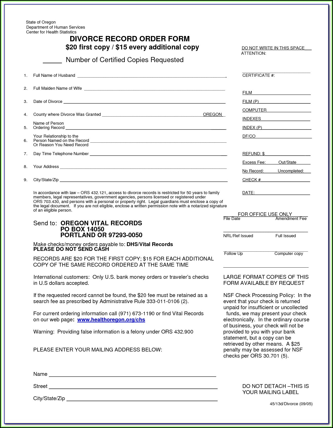 Clark County Ohio Dissolution Of Marriage Forms