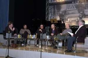 Das contrapunkt-Podium im Goethe-Forum