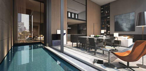 you can own a luxury apartment with your own private pool in