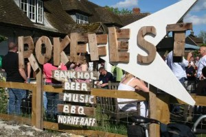 Rokefest beer and music festival, South Oxfordshire