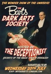 Barts speakeasy's Dark Arts Society evening with The Deceptionist