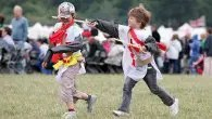 English Heritage's Clash of the Knights at Bolsover Castle, Derbyshire