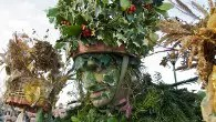Mummers, Maypoles and Milkmaids exhibition, photo Sara Hannant