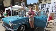 Jaime Winstone and Pam Hogg at the Vauxhall Art Car Boot Fair 2012