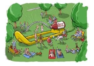 World's Biggest Water Sprinkler - Victoria Park
