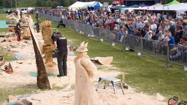 Carve carrbridge chainsaw competition scotland contrary life