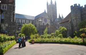 Canterbury Cathedral - secret gardens 2014