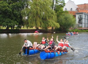 Lions Charity Raft Race 2014 - Stratford upon Avon