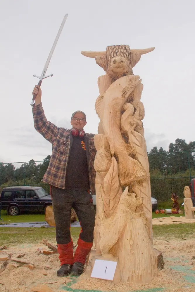 Carve carrbridge chainsaw competition 2018 scotland contrary life