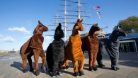 Pantomime Horse Race celebrates the United Neightions