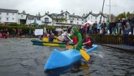 Avoiding that sinking feeling at the Low Wood No Wood Cardboard Boat Race