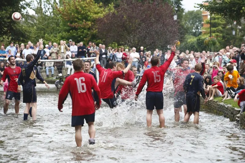 Football in the River - Bourton on the Water - Cotswolds