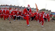 Dress as Santa and chase a Christmas pudding in Weymouth