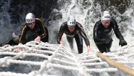 Cold water swimming and cargo net climbing at the Neptune Steps