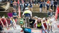 Join in with the largest paper boat race at Leeds Waterfront Festival