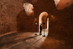 Sound artist Scanner in the Cliveden sounding chamber, credit National Trust Images-John Millar
