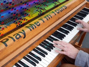 Play Me I'm Yours - Bristol - Luke Jerram - Photograph by Sally Reay