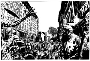 Charlie Adlard - The Walking Dead artwork - Lakes International Comic Art Festival 2017