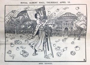 Illustration from the front cover of The Suffragette newspaper