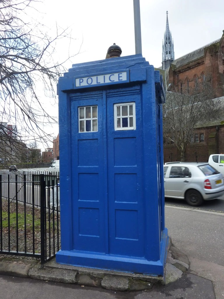 Contrary Life - Glasgow city guide - Blue Police Boxes