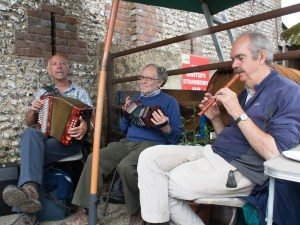 Folk music at Binsted Strawberry Fair