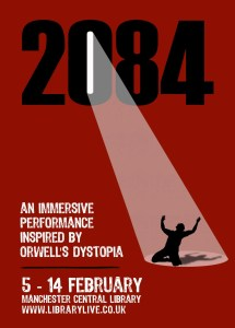 2084 Immersive Orwellian performance - Manchester Central Library