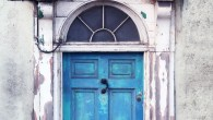 Bookshop Door Chippy Lne - BLUE at Chapter, Cardiff