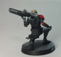 iNFINITY Rail Gun_Tabletop Style Painted By Matt DiPietro C Contrast Miniatures