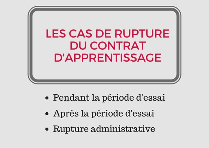 Rupture Contrat Dapprentissage Comment Faire
