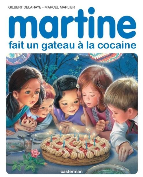 Martine fait un gâteau à la coke