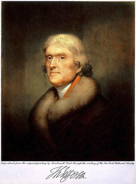 Thomas Jefferson (Image libre de droits)