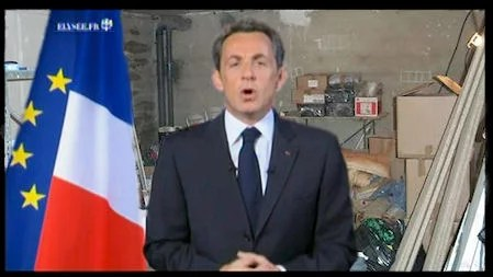 Sarkozy s'exprime devant la Nation.