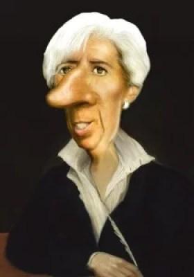 Christine Lagarde caricaturée par Gilles Morand
