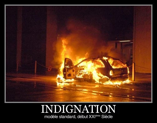 Indignation, modèle standard début 21è