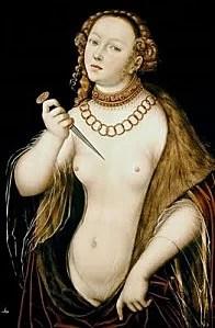 Lucas Cranach l'Ancien : Le Suicide de Lucrèce, 1538.