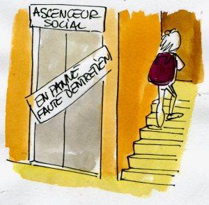 ascenseur social  (Crédits : René Le Honzec/Contrepoints.org, licence Creative Commons)