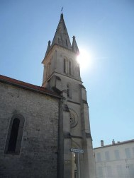 Clocher de l'Eglise des Mathes (Crédits Dimimis Creative Commons)
