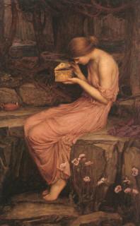 Psyche Opening the Golden Box (John William Waterhouse, 1903)